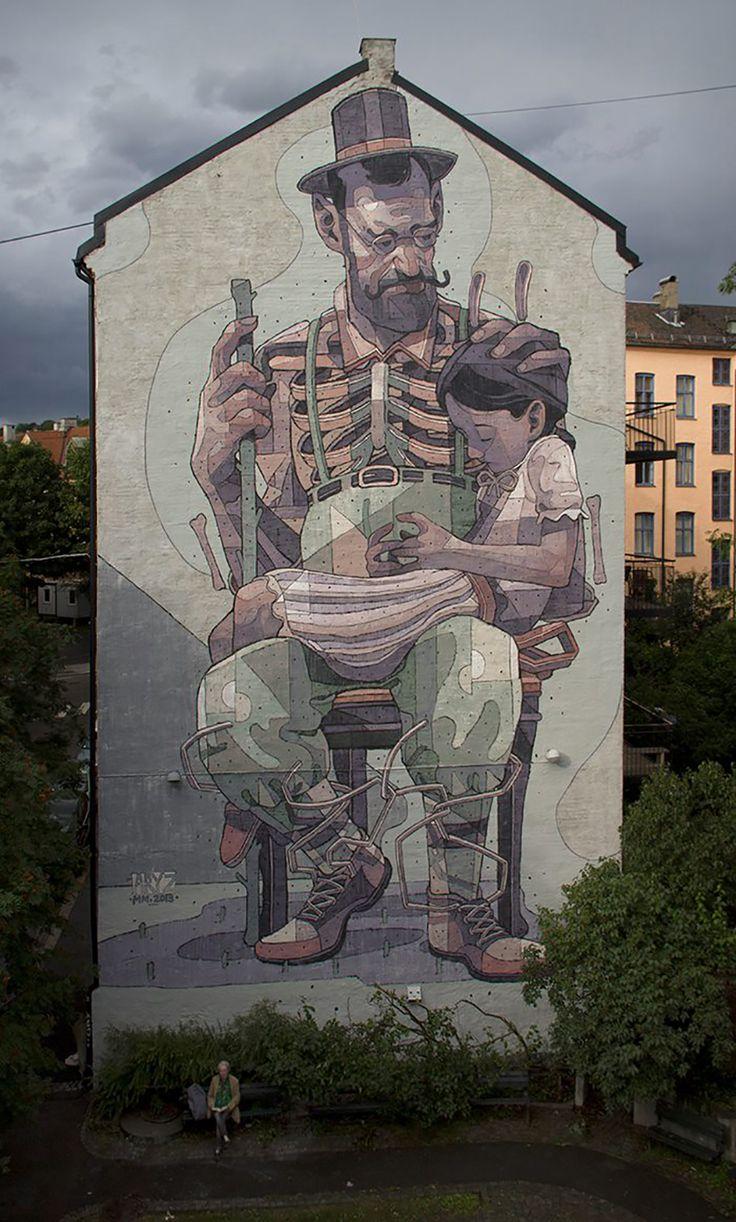 Grafitti art oslo - Celebrated Pieces By Aryz One Of The Worlds Great Urban Artists See More Graffiti Art Street Art Wall Murals Urban Art Online On Mr Pilgrim