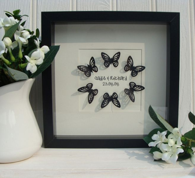Wedding Butterfly Box Frame Art                                                                                                                                                                                 More