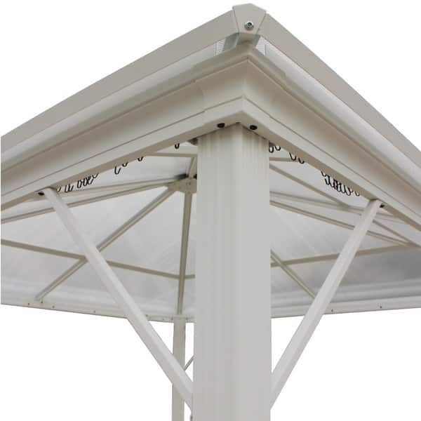 Bailey Outdoor 10 Ft Aluminum Gazebo With Hardtop By Christopher Knight Home Aluminum Gazebo Hardtop Gazebo Gazebo