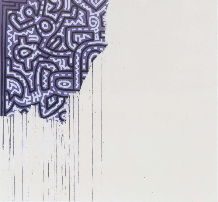 Keith Haring last & unfinished painting (1989)