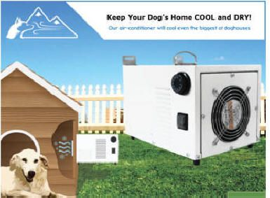 Dog house air conditioner and heater Want the best for your dog? Keep your adorable dog comfortably warm or cool as per the weather conditions all year round with top quality dog house air conditioner and heater from the trusted Securepets! Call us at : 888-538-7521