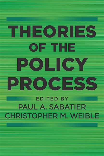 Theories of the policy process / edited by Paul A. Sabatier, Christopher M. Weible - https://bib.uclouvain.be/opac/ucl/fr/chamo/chamo%3A1918559?i=0