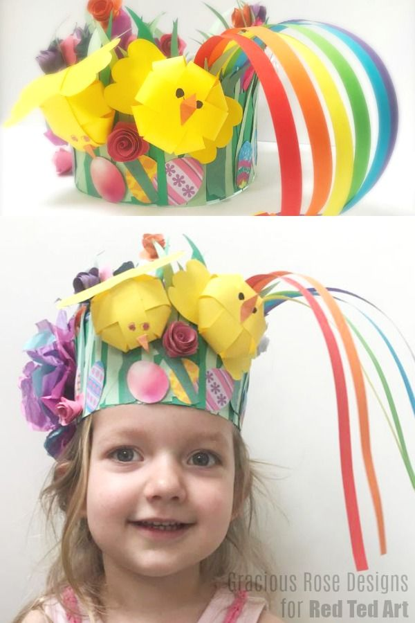 Easy Spring Paper Easter Bonnet Craft For Kids Red Ted Art Make Crafting With Kids Easy Fun Easter Bonnet Easter Crafts Crafts For Kids