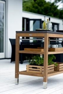 Outdoor Pantry -Teak/Fibre Concrete