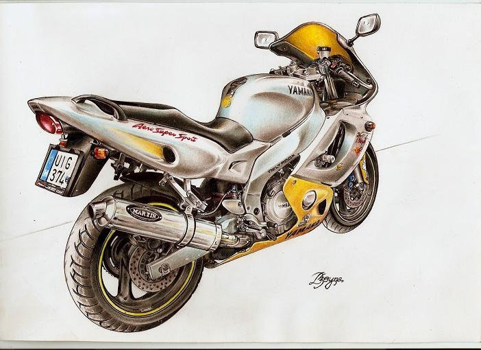 Motorbike drawing - Yamaha Thundercat