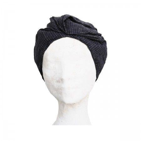 Lacrom - Woman - Turban Turban in grosgrain with an elastic which is internal to the hemming.  It can be worn as a turbant, but, if turned, it becomes a hat.