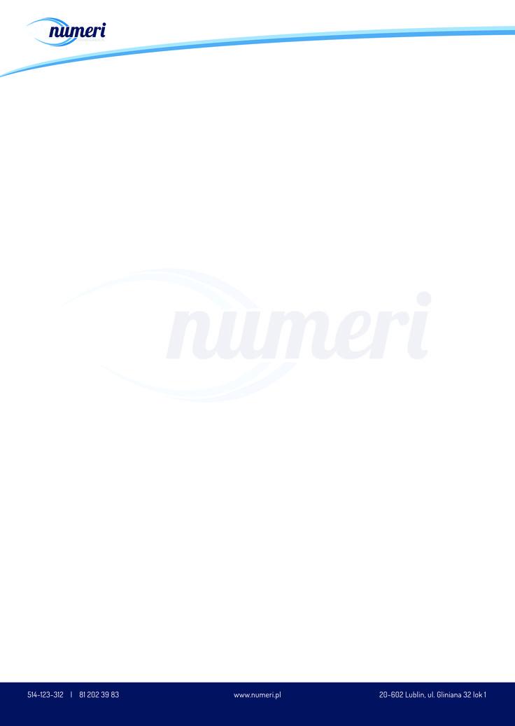 Papier firmowy dla firmy numeri.pl