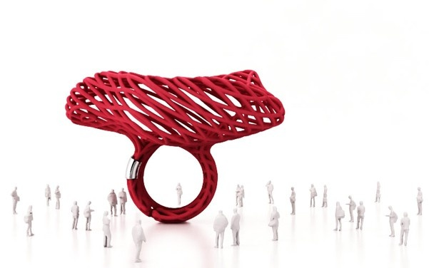 Jingle ring red by Falabrac $113