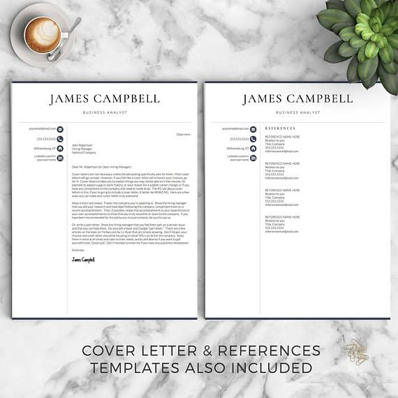 Professional Resume Template for Word & Pages: The Campbell This professional resume template is perfect for more conservative industries and has been successful for my clients who are executives, engineers, lawyers, accountants, etc. • 1, 2 and 3 Page Resume Templates, Cover