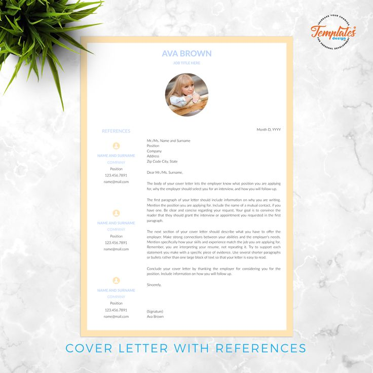 Resume Template for Ms Word (.docx) & Pages (.pages) with ...