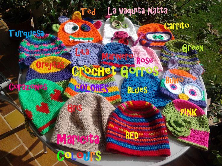 Crochet Gorros Beanie Hats Por Maricita Colours In You