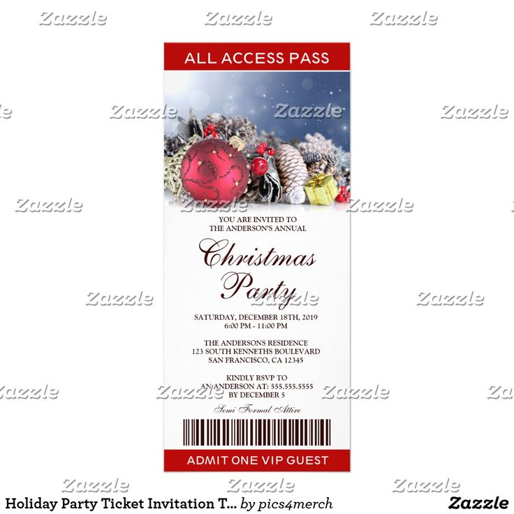 The 25+ best Christmas party invitation template ideas on - christmas party tickets templates