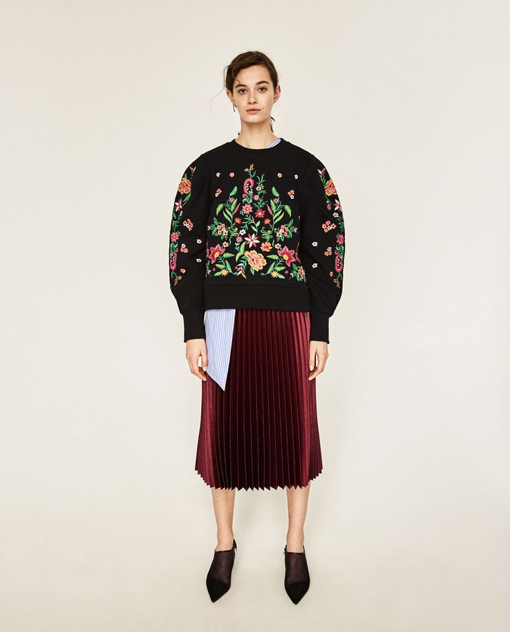 EMBROIDERED FLOWER SWEATER-NEW IN-WOMAN-COLLECTION SS/17 | ZARA Canada