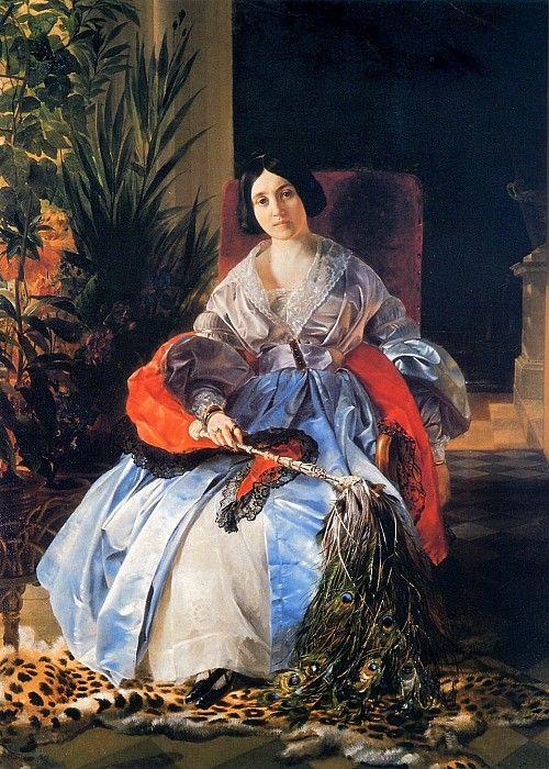 Портрет светлейшей княгини Елизаветы Павловны Салтыковой. 1841. Карл Павлович Брюллов