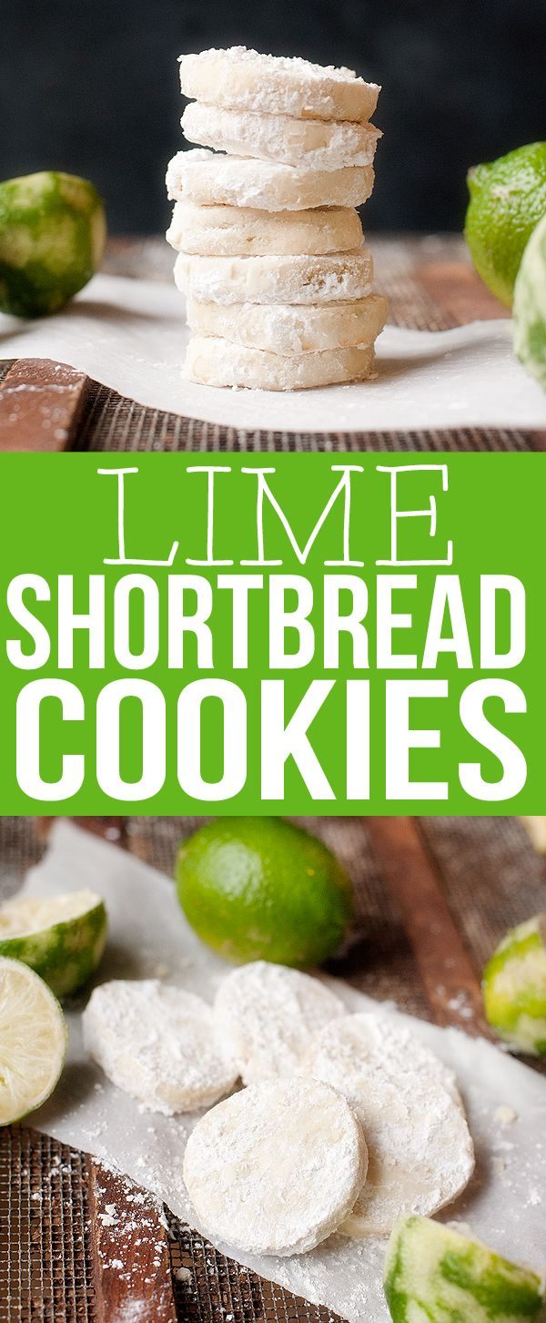 Lime Shortbread Cookies