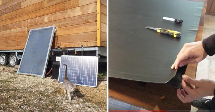 Àl'heure des tiny houses, voitures converties, dômes et autres maisons mobiles ou écologiques, construire ses panneaux solaires thermiques peut s'avérer être très utile et particulièrement économique... La preuve avec ce kit proposé par une entreprise!    Après