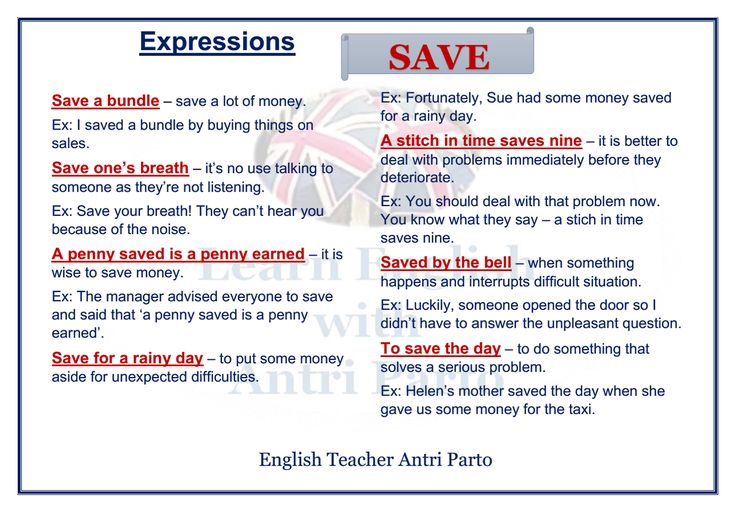 "Expressions with ""SAVE""  #LearnEnglish @AntriParto"