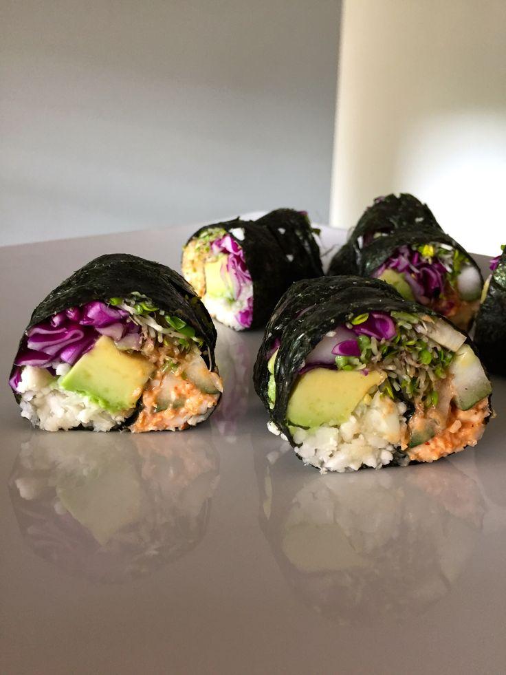 No-rice veggie sushi!