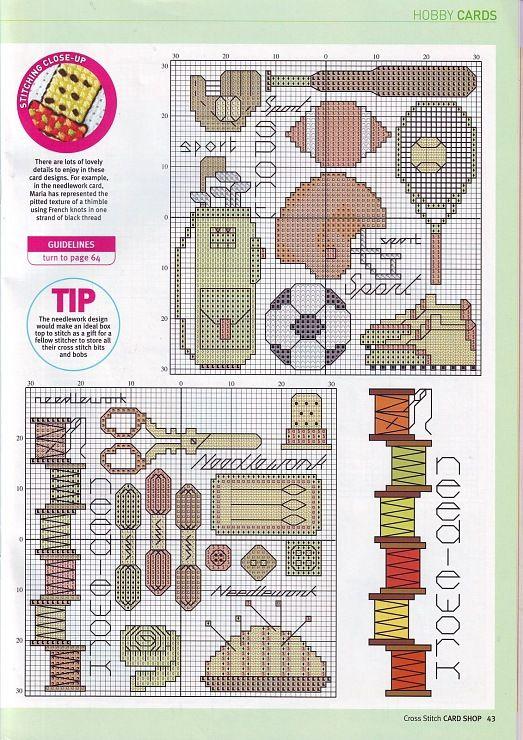 Sports & sewing cross stitch patterns