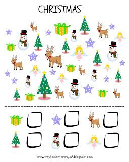 Christmas, winter, I spy, I spy with my little eye, vocabulary
