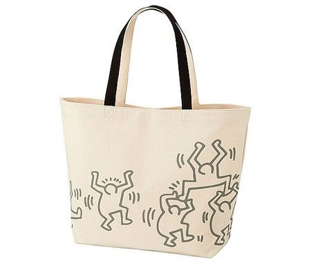 Limited edition Keith Haring tote bags at Uniqlo