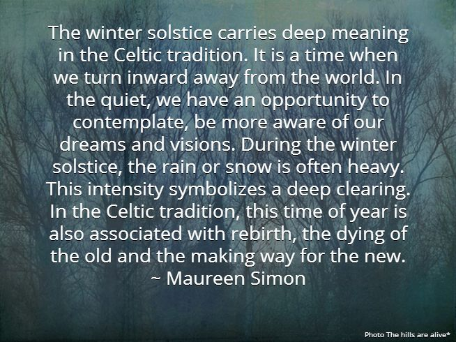 The Winter Solstice carries deep meaning