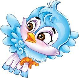 What an adorable little blue bird image!!