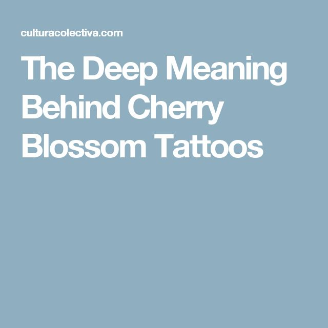 The Deep Meaning Behind Cherry Blossom Tattoos
