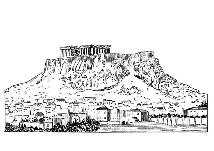 Disegno da colorare Acropoli