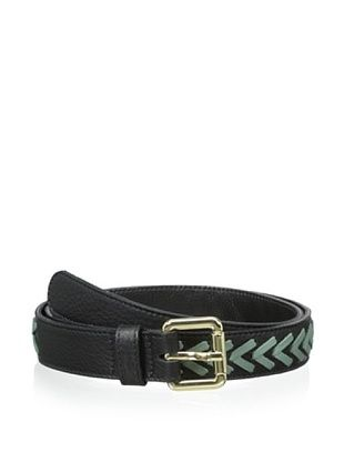 72% OFF Luciana Verde Women's Stitched Hip Belt (Black/Sage)
