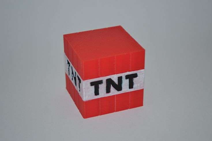 Minecraft - Steve, TNT and Pig 3D Print 19149