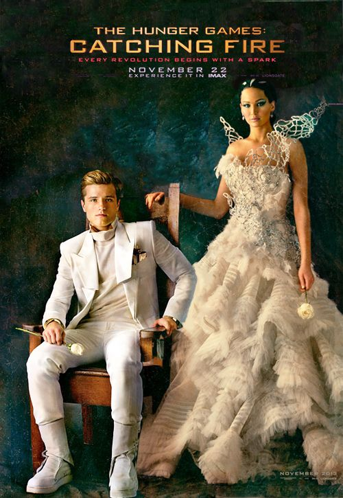 Catching Fire Costume Designer Confirms the white dress in the Capitol Portrait IS her wedding dress!!...does it also means that this is what Peeta will wear when he proposed?!?! and this is the one that got torn when he kneel?!?
