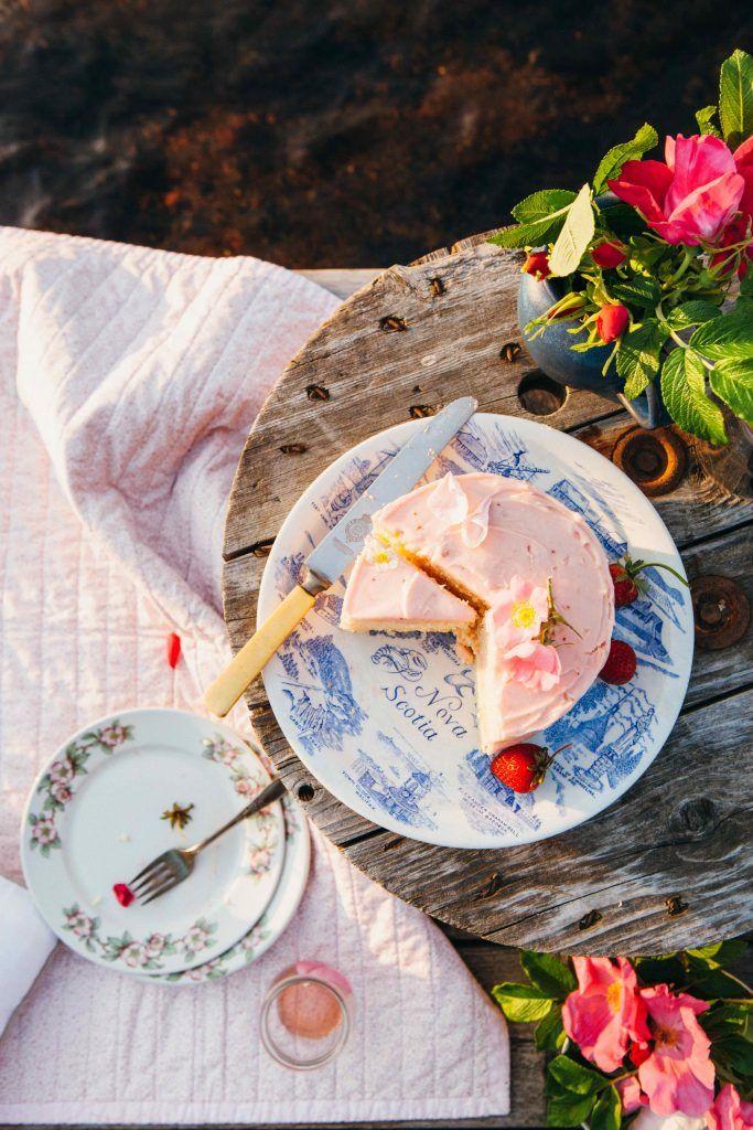 A Summer Sunset Picnic For Two Simple Bites Strawberry Cakes Lemon Buttermilk Cake Recipe Moist Lemon Cake Recipe