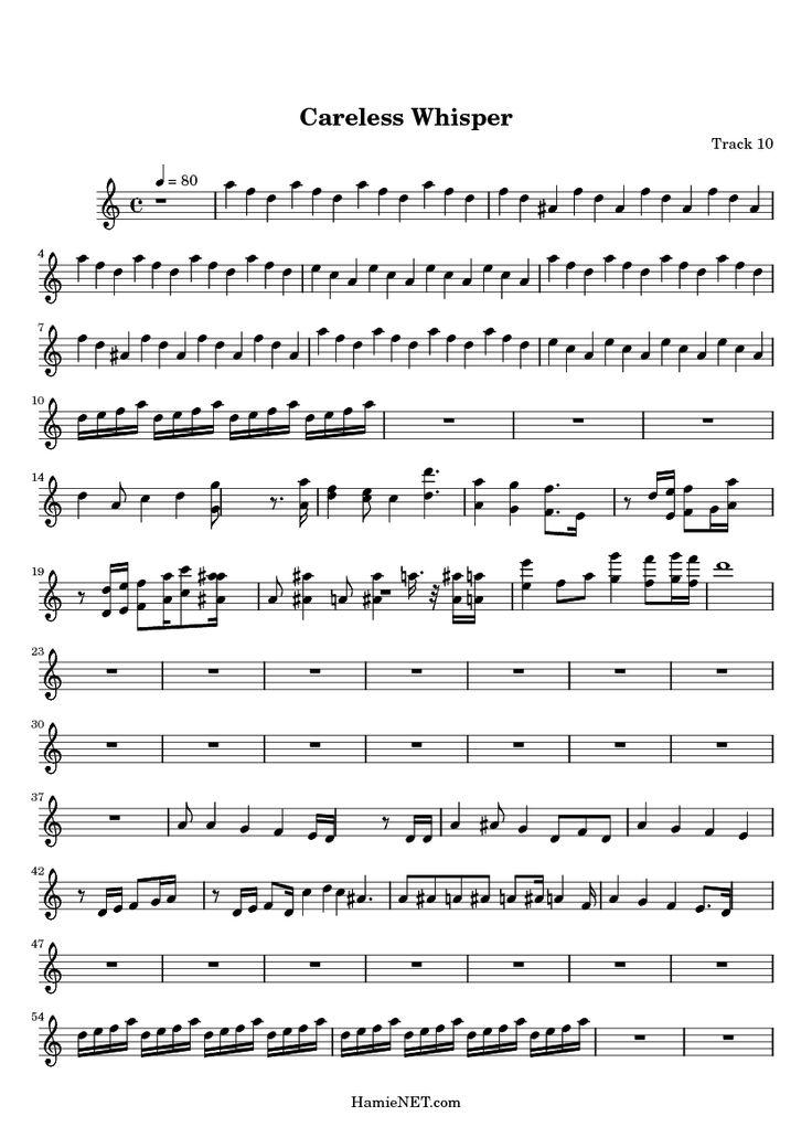 careless whisper sax sheet - Google zoeken