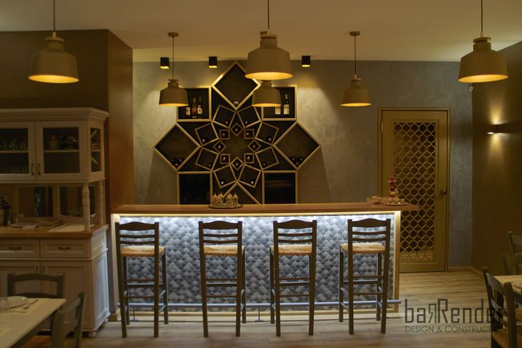 Bar counter front - Barbalexis Oriental Restaurant in Piraeus