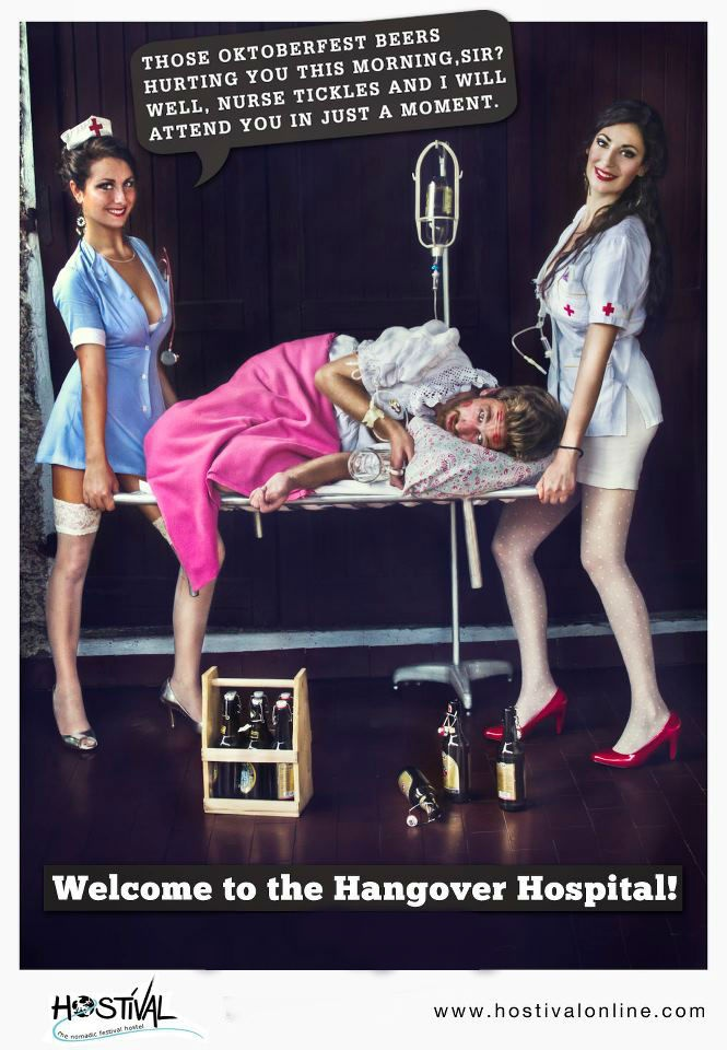 Let our nurses take good care of you book for Oktoberfest now www.hostivalonline.com