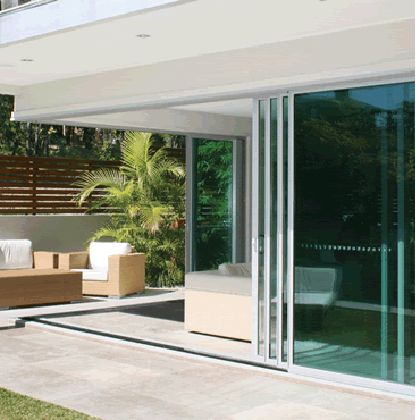 Aluminum Alfresco Corner Sliding Stacker Doors