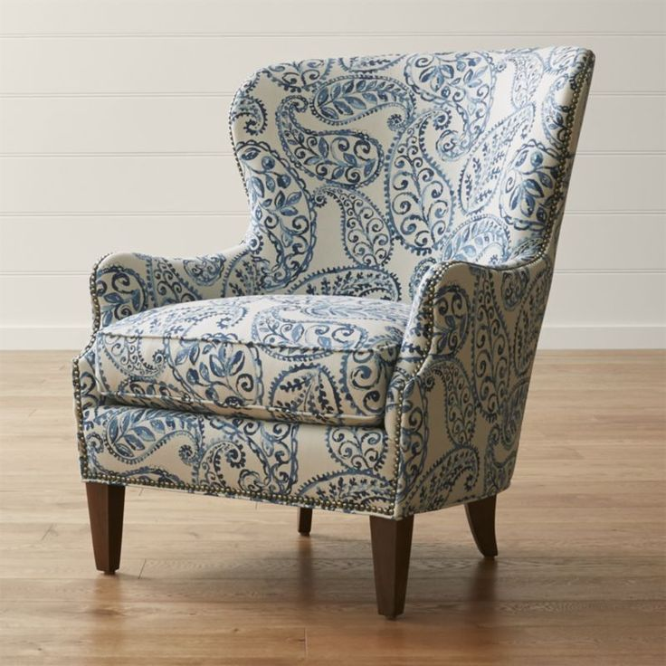 Brielle Wingback Chair   $1499 An Overscaled Paisley Print Is Outlined By  Hand Applied, Pictures