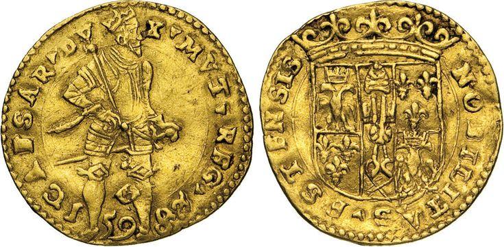 NumisBids: Numismatica Varesi s.a.s. Auction 65, Lot 446 : MODENA - CESARE D'ESTE (1598-1628) Ongaro 1598. D/ Il Duca in...
