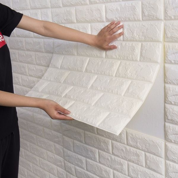 Pe Foam 3d Wall Stickers Diy Decorative Bedroom Decor Wallpaper Safety For Kids Living Room Decorative Brick Stickers Wish Brick Decor Wallpaper Decor Bedroom Brick Wall Paneling