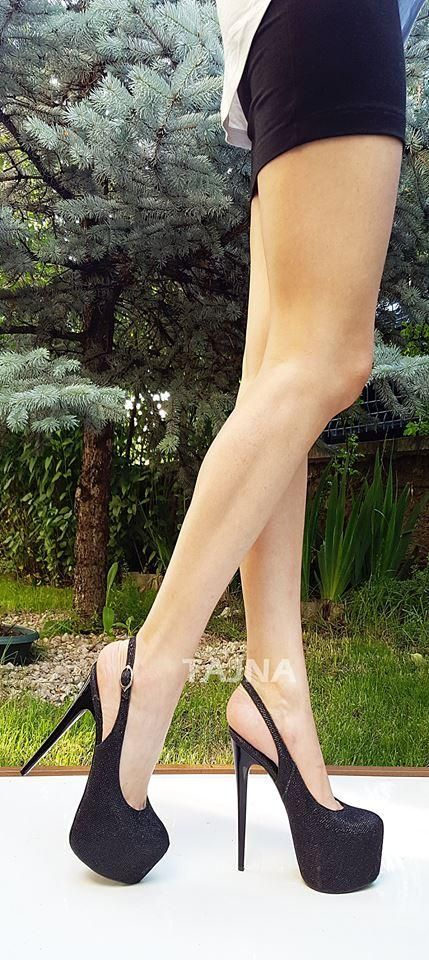 57e5e033a Black Shimmer 17 cm High Heel Platform Night Shoes – Tajna Club