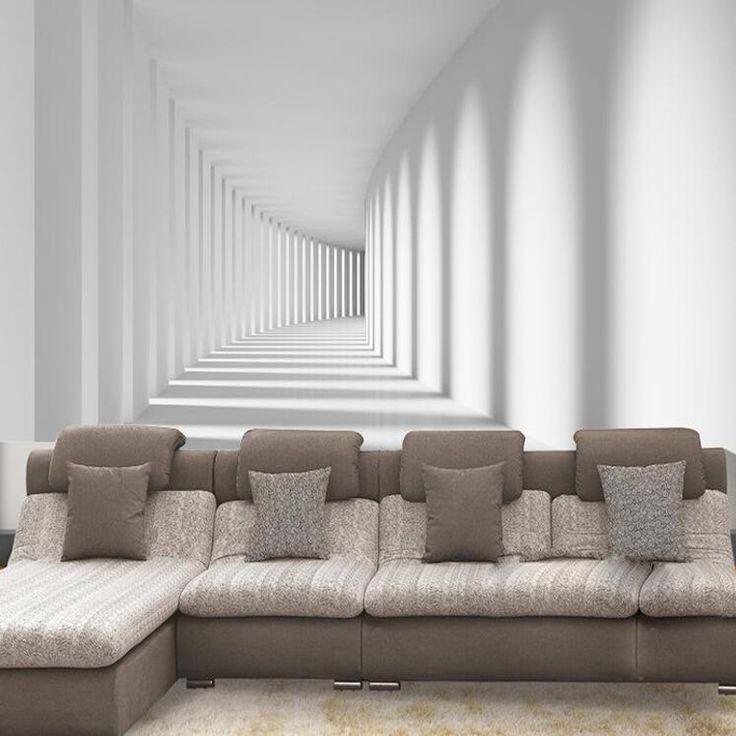 Aliexpress Com Koop Custom 3d Abstracte Moderne Foto Wallpaper Muurschilderingen Voor Woonkamer Drie