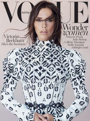Victoria Beckham by Patrick Demarchelier for Vogue Australia August 2015 cover