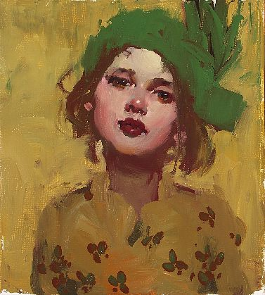Milt Kobayashi, Hat Day, oil on canvas. A reason to learn how to paint with Oil! Wow.