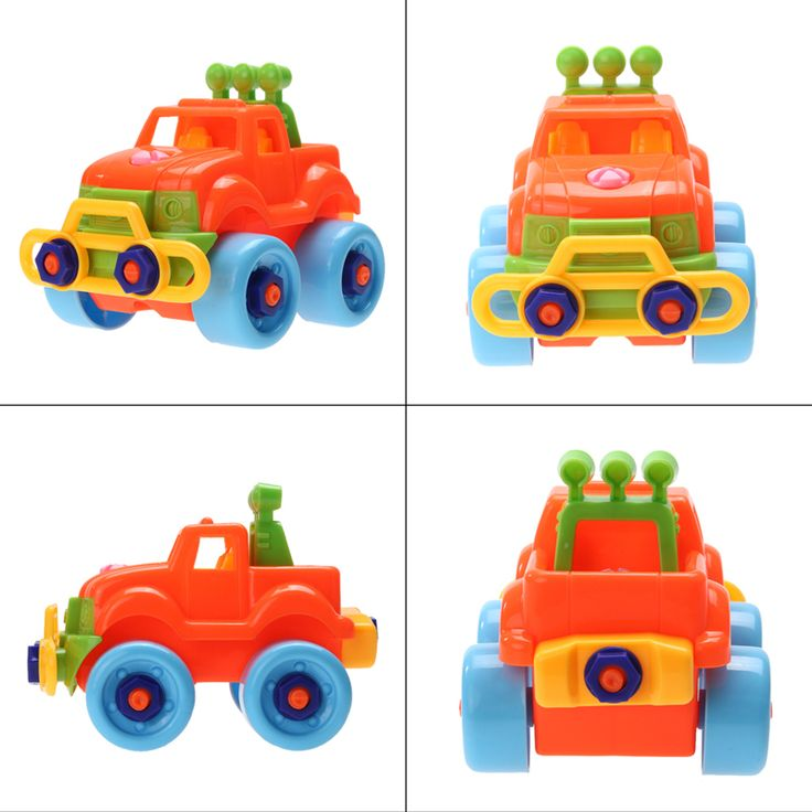 Baby Plastic Car Toy Disassembly Assembly Classic Cars Truck Toys Brand Children Gifts Hot