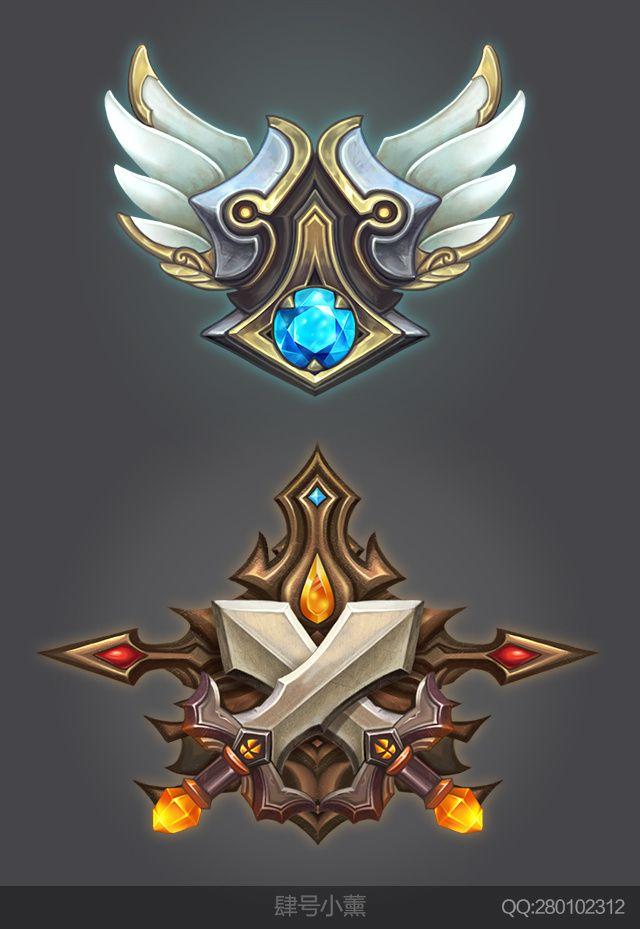 徽章图标练习  GAMEUI- 游戏设计...