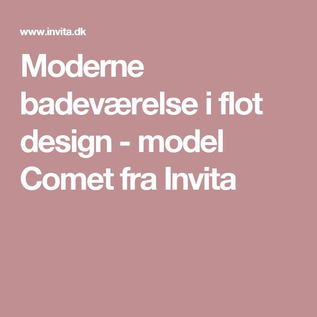 Moderne badeværelse i flot design - model Comet fra Invita