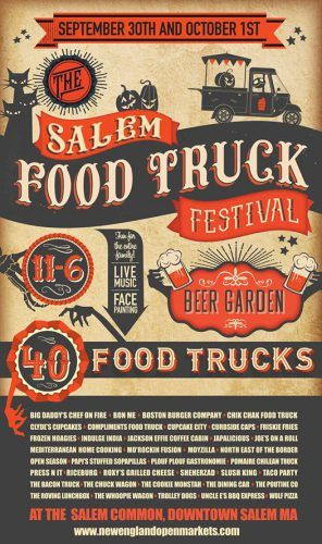 The Salem Food Truck Festival is a two-day event being hosted in the Salem Common in historic downtown Salem, MA. The event will feature 25 food...