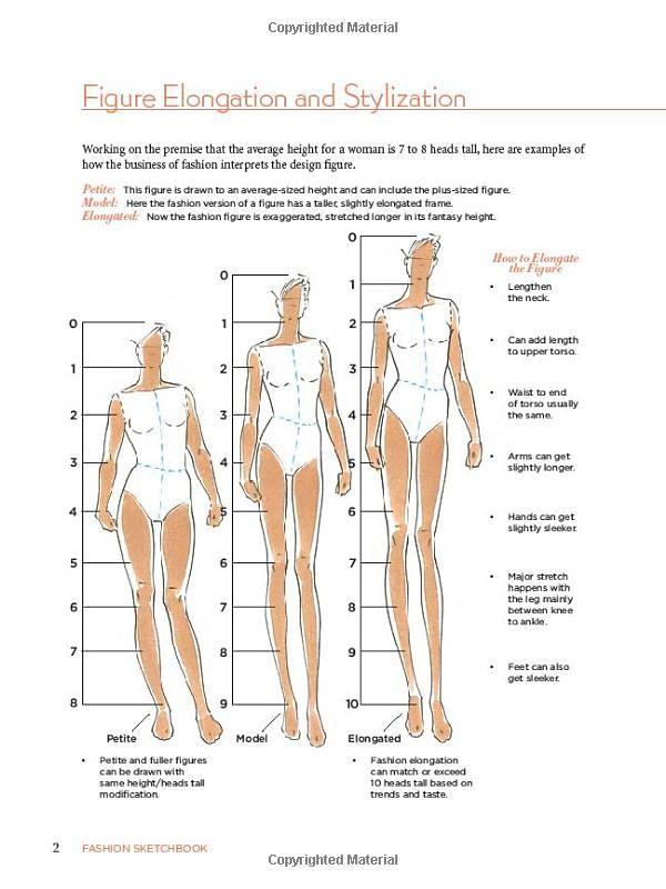 Figure elongation and stylization from: Fashion Sketchbook: Bina Abling