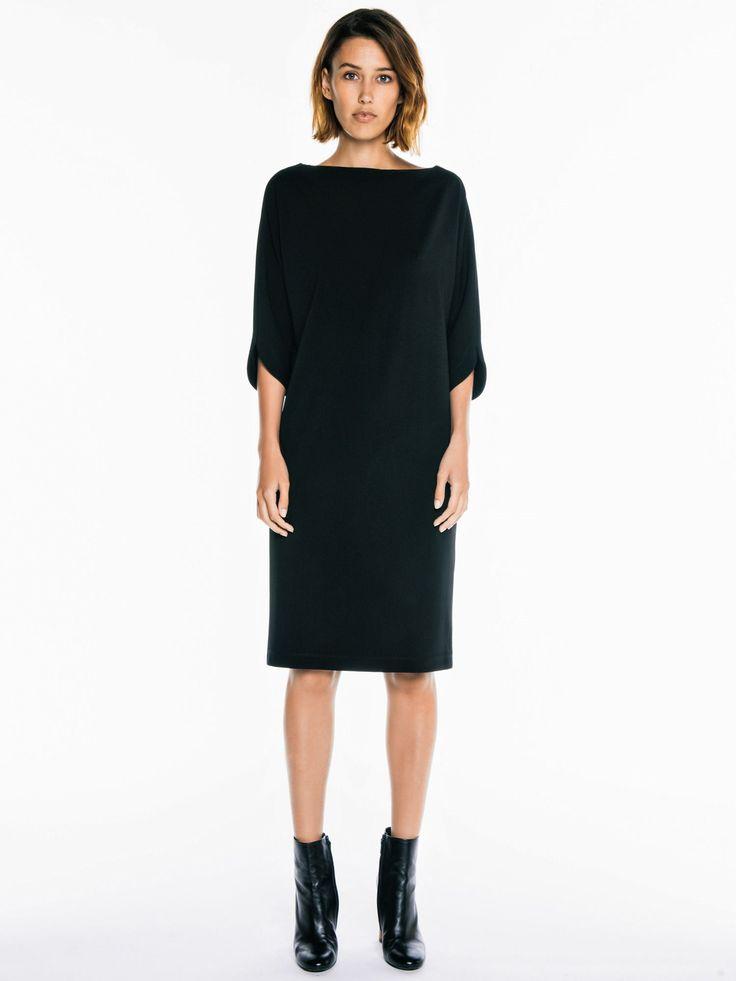 Technical Knit Cocoon Dress by Veronika Maine